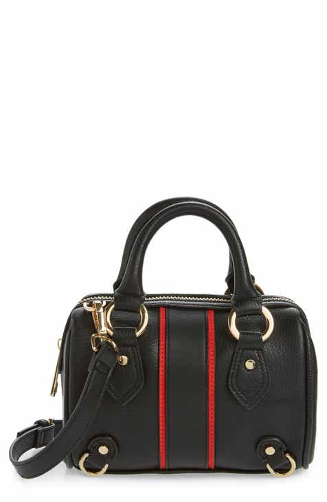 0a62c03a7dd2 Topshop Stripe Faux Leather Mini Bowler Bag