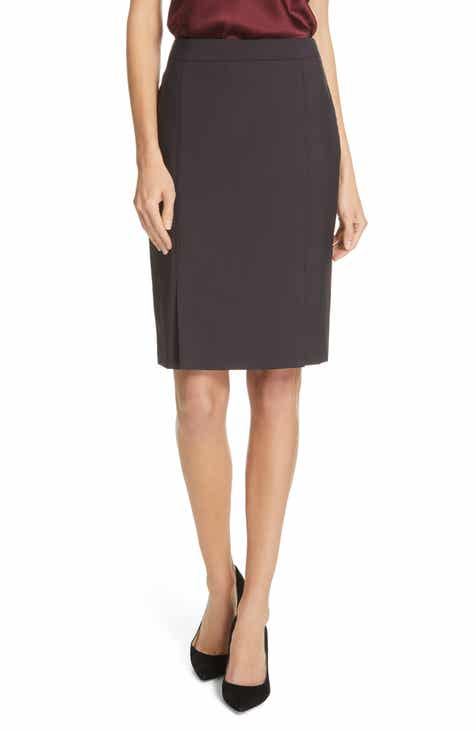 BOSS Venisia Mini Houndstooth Wool Pencil Skirt by BOSS HUGO BOSS