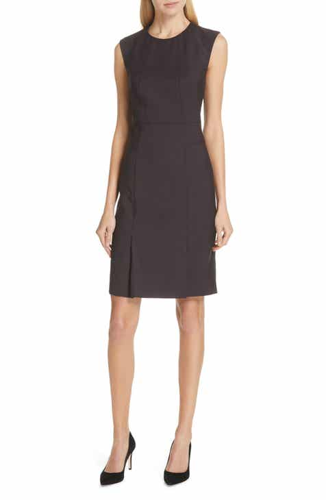 BOSS Mini Houndstooth Wool Sheath Dress (Regular & Petite) by BOSS HUGO BOSS