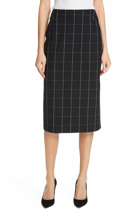 BOSS Vedani Windowpane Pencil Skirt by BOSS HUGO BOSS