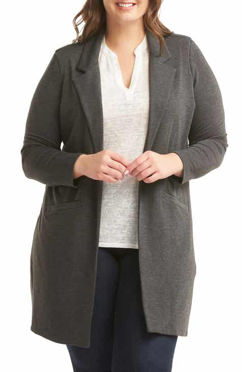 Lemon Tart Olly Longline Knit Blazer (Plus Size) by LEMON TART