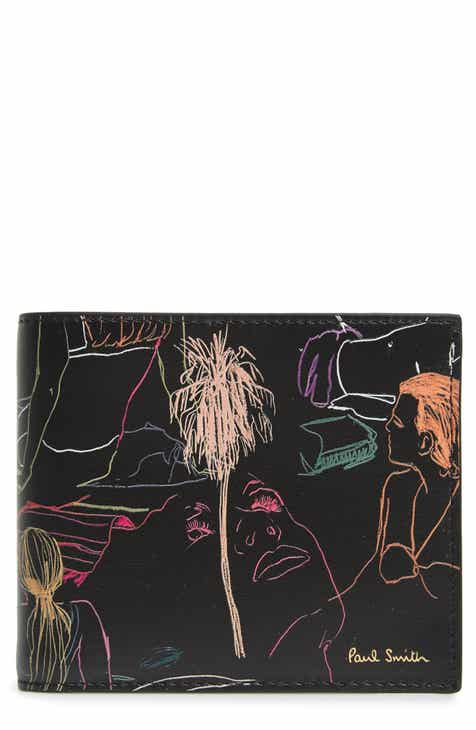 ad9d2ea0a21 Paul Smith Sketch Print Leather Wallet