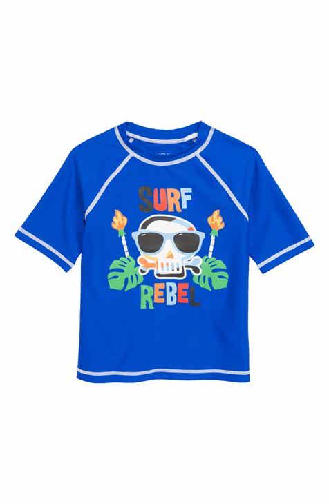 Flapdoodles Dino Surf Rebel Rashguard (Toddler Boys & Little Boys)
