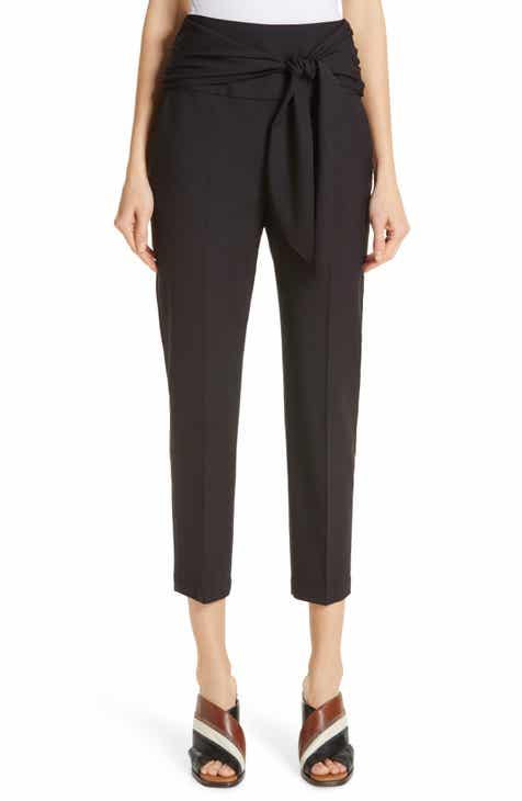 Brunello Cucinelli Tie Waist Crop Cigarette Pants by BRUNELLO CUCINELLI