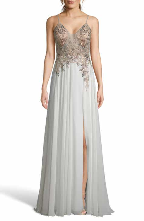 ffeca1604d34 Xscape Open Back Embellished Evening Dress