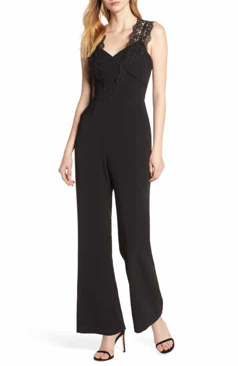 Fraiche by J Ruffle Cold Shoulder Jumpsuit by FRAICHE BY J