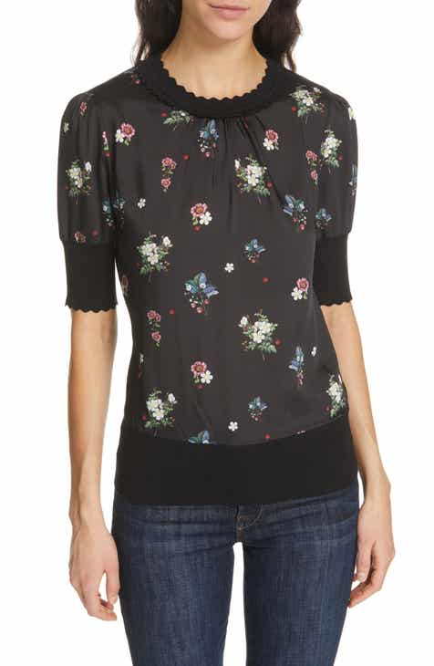 eb1f7513cadcd7 Ted Baker London Addylyn Oracle Mixed Media Top