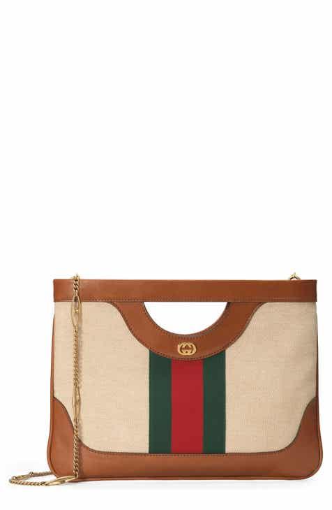 87f50be10fd1 Gucci GG Vintage Canvas   Leather Shoulder Bag