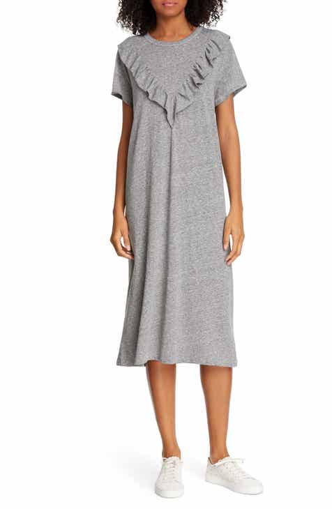 Michael Kors Asymmetrical Hem Crepe Dress by MICHAEL KORS