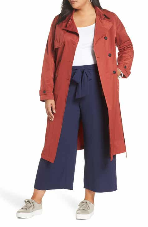 6d0c45574e3ff Halogen® Double Breasted Trench Coat (Plus Size)