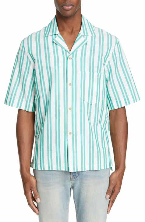 Acne Studios Textured Stripe Camp Shirt