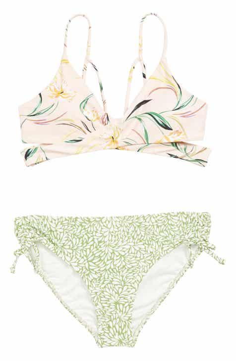 4471a67752e40 O'Neill Claris Wrap Two-Piece Swimsuit (Big Girls)