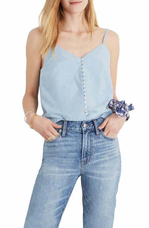 Madewell Denim Button Down Cami Top by MADEWELL