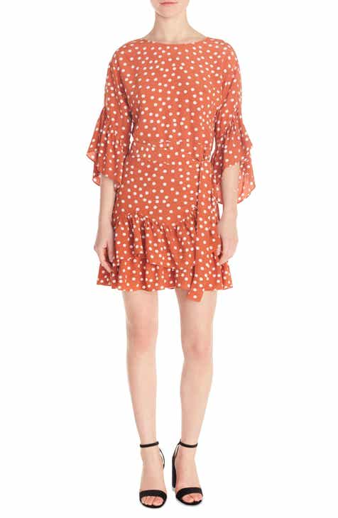 maje Polka Dot Flounce Dress (Nordstrom Exclusive)