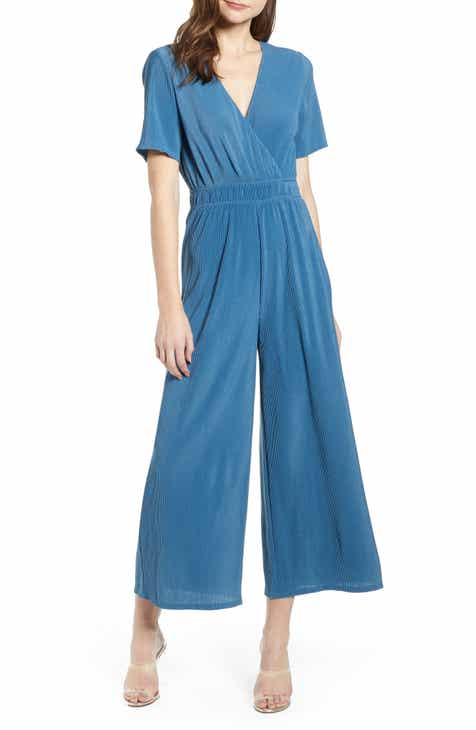 ASTR the Label Wrap Front Plissé Jumpsuit by ASTR