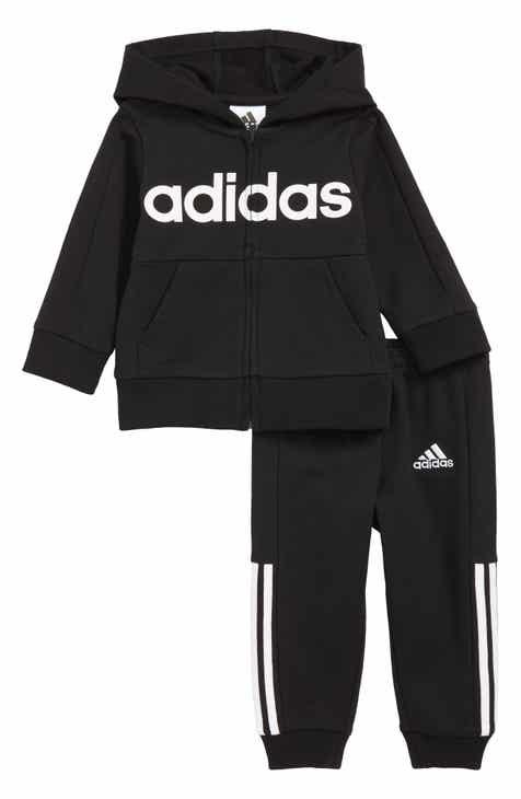 7142ebc7325 adidas Logo Full Zip Hoodie   Sweatpants Set (Baby)