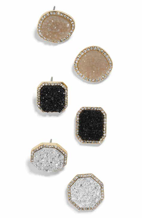05905599b BaubleBar Elzina Set of 3 Stud Earrings