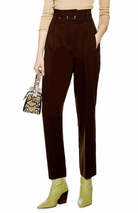 Vince Stretch Cotton & Linen Wide Leg Trousers by VINCE