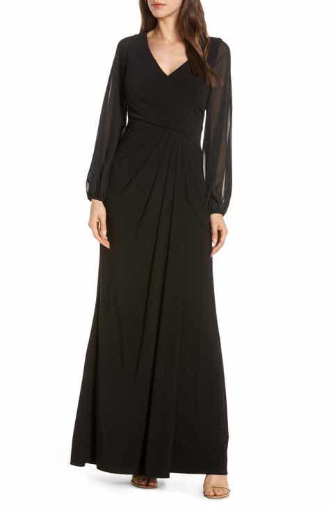 d8bf8a70f2e Adrianna Papell Sheer Long Sleeve Dress