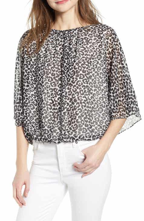 58b162fae5058 Vince Camuto Leopard Print Blouse
