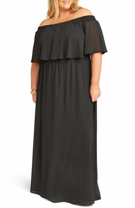 5022e383815 Show Me Your Mumu Hacienda Off the Shoulder Ruffle Evening Dress (Plus Size)