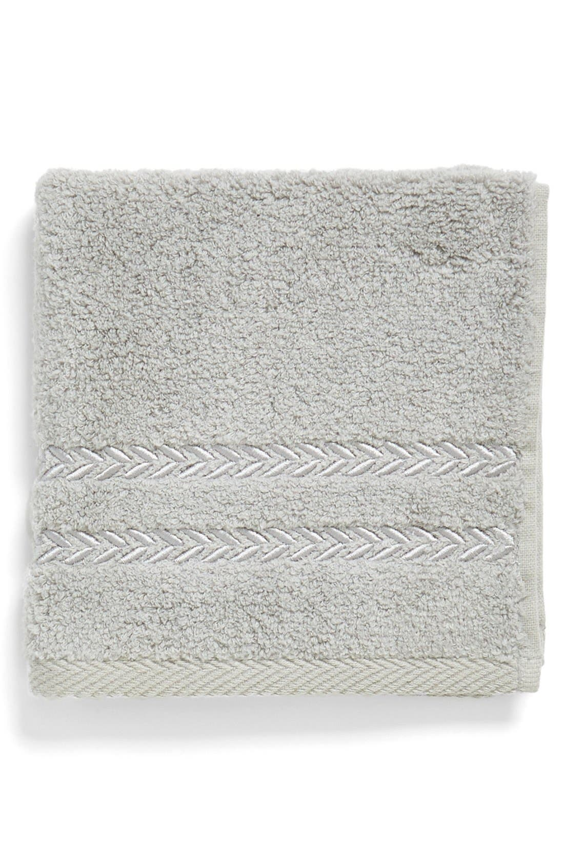 'Pearl Essence' Wash Towel,                             Main thumbnail 1, color,                             Smoke