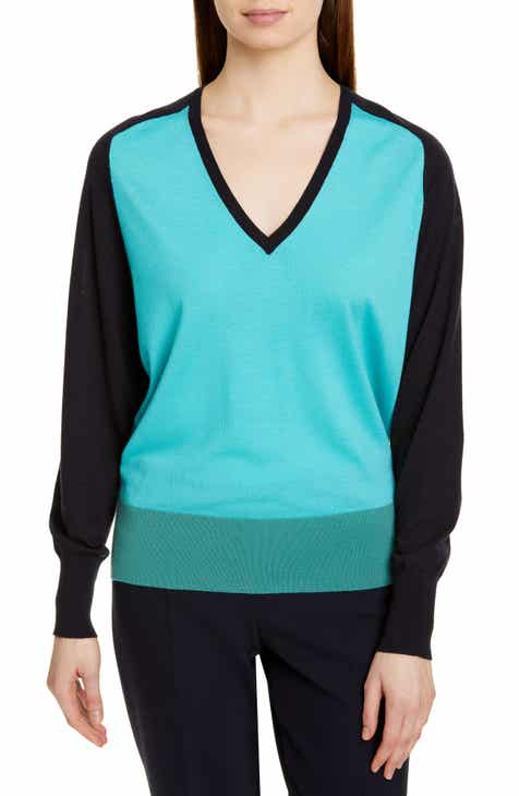 BOSS Fysa Colorblock Wool Sweater by BOSS HUGO BOSS
