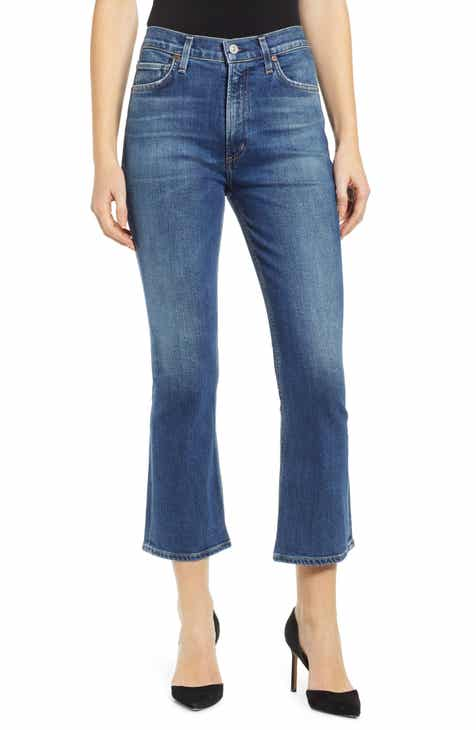 6f08ec8d42e Citizens of Humanity Demy High Waist Crop Flare Jeans (Clearwater).  $228.00. Product Image