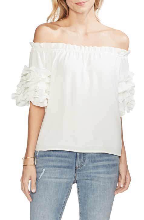 c49c215b6a245 Vince Camuto Off the Shoulder Ruffle Sleeve Blouse