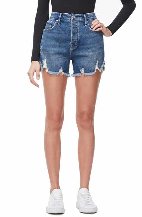 c91f23a978 Good American The Bombshell High Waist Distressed Denim Shorts (Regular &  Plus Size)