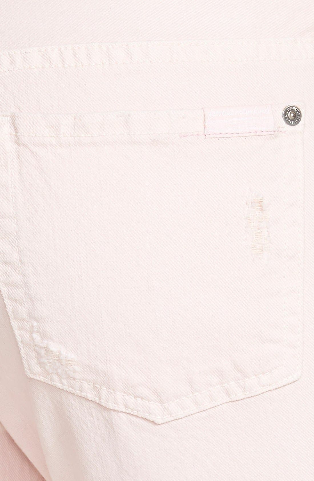 Alternate Image 3  - 7 For All Mankind® Relaxed Skinny Jeans (Whisper Pink)