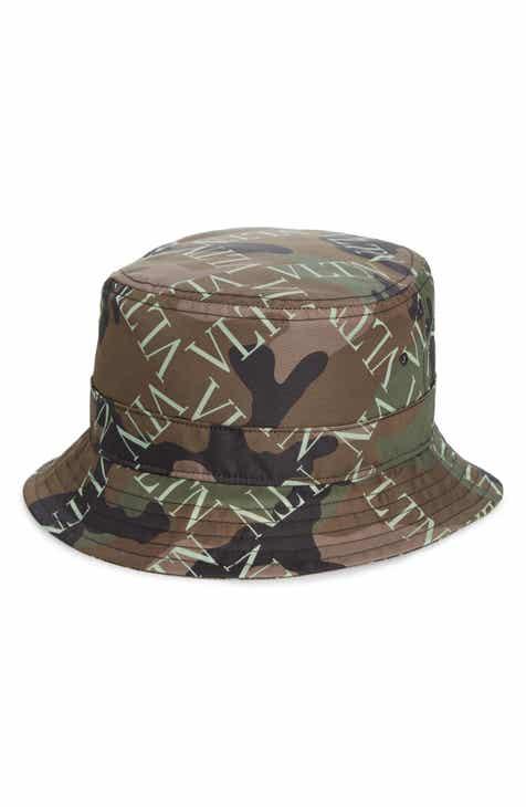 Valentino Camo Logo Bucket Hat 5dbf6d5cd0c