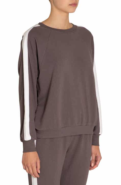 Clu Asymmetrical Pleat Back Sweatshirt by CLU