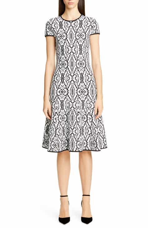 f6c42b23c8c St. John Collection Artisanal Ikat Jacquard Sweater Dress