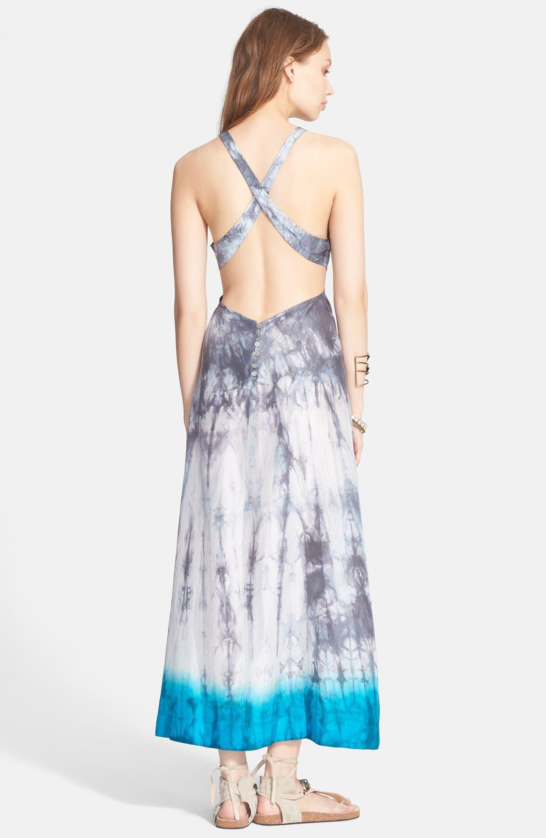 Alternate Image 2  - Free People 'Shadow' Tie Dye Silk Dress
