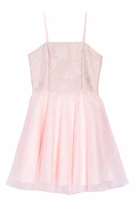 d56bd1879 Un Deux Trois Floral EmbroideredTulle Dress (Big Girls)