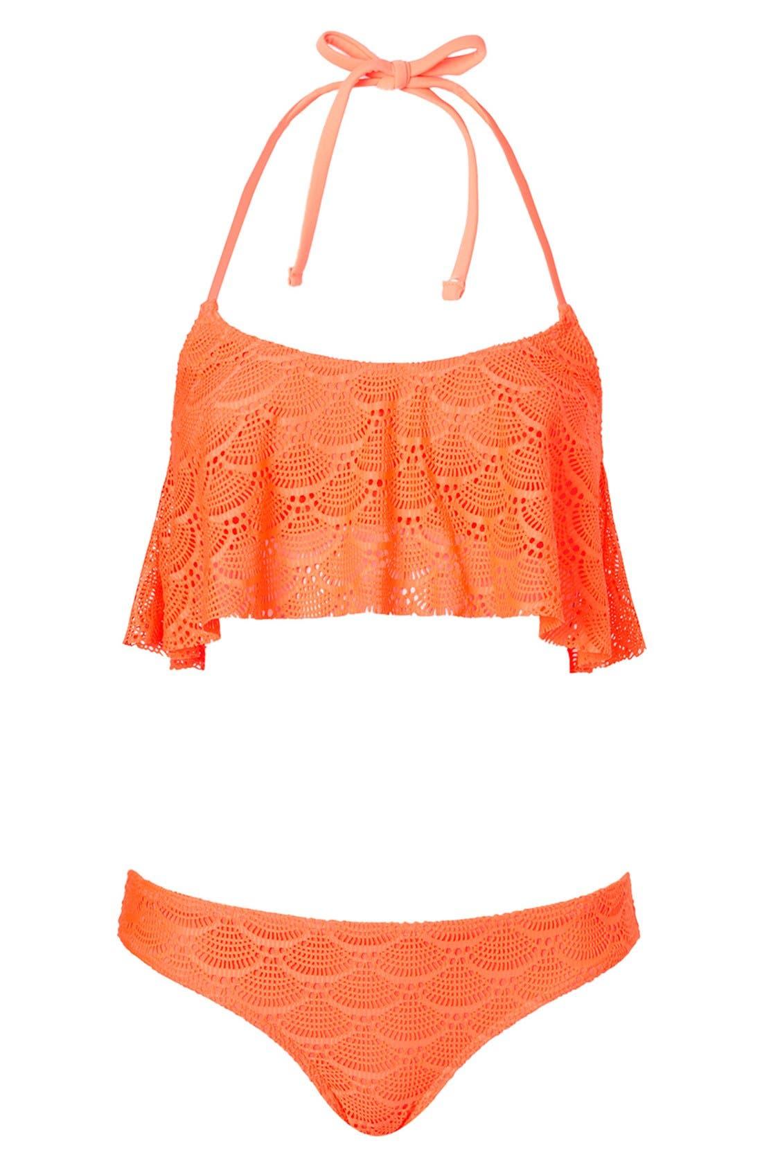 Alternate Image 1 Selected - Topshop Crochet Bikini Set