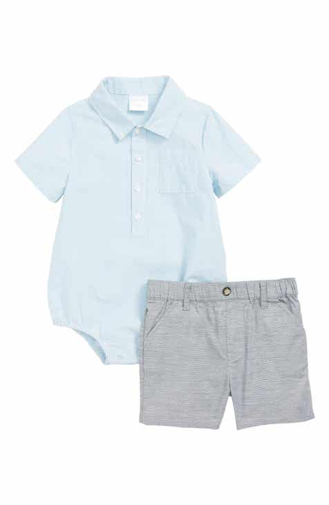 780485570 Baby Boy White Rompers & One-Pieces: Woven, Thermal & Cotton | Nordstrom