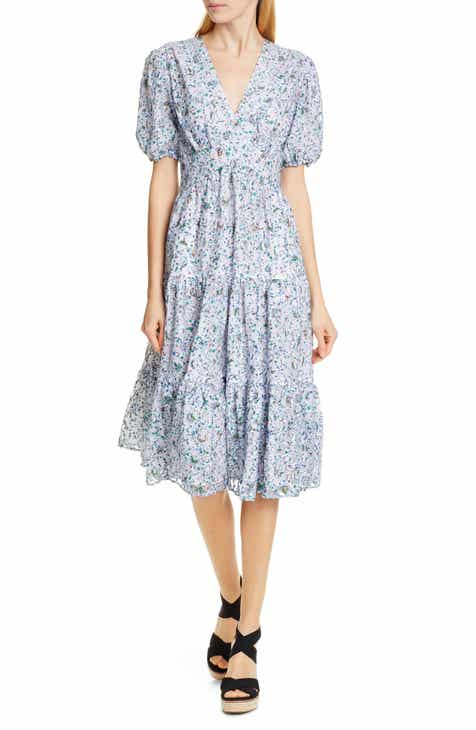 be158e7a179a Tory Burch Floral Print Lace Dress