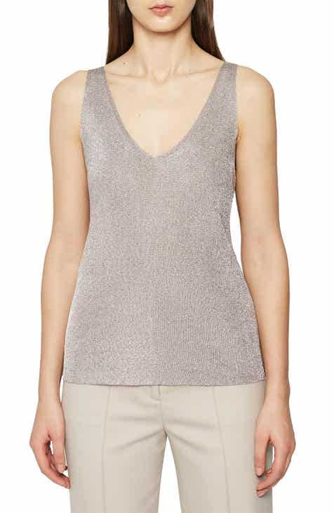 eea43909fcc662 Reiss Agata Metallic Tank Top