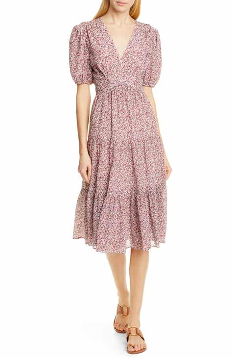 c6029b2a4166 Tory Burch Tiered Floral Dress