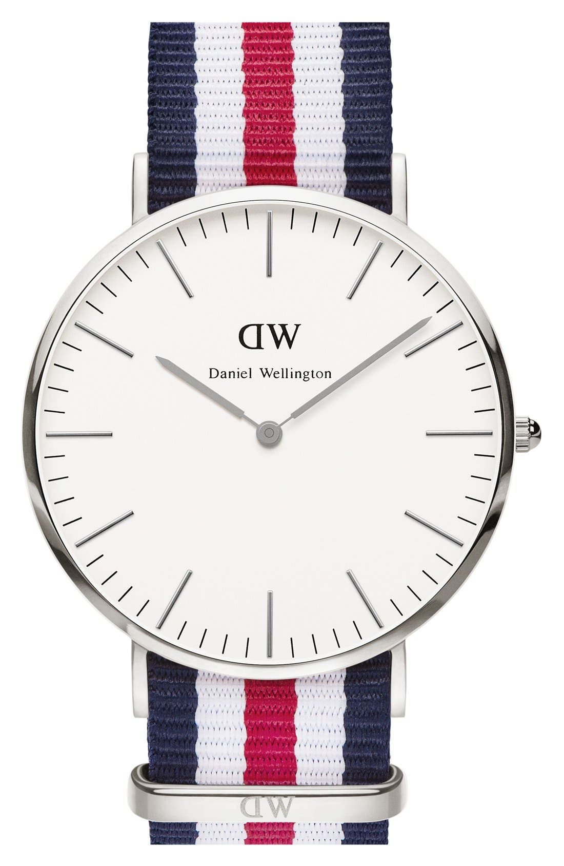 Alternate Image 1 Selected - Daniel Wellington 'Classic Canterbury' NATO Strap Watch, 40mm