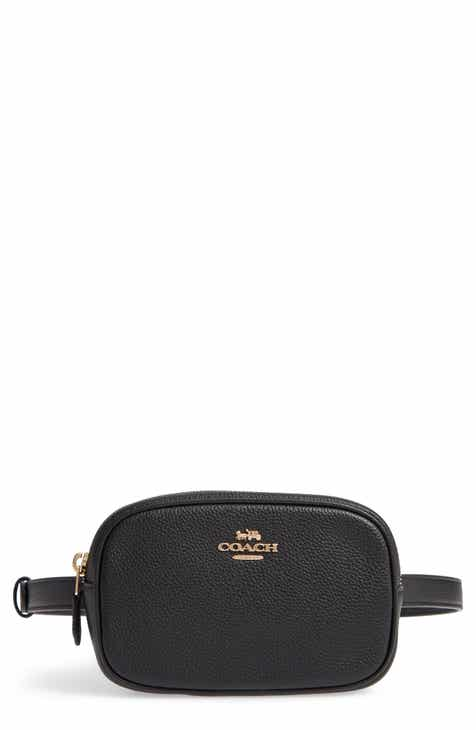 d719452224be COACH Pebbled Leather Belt Bag