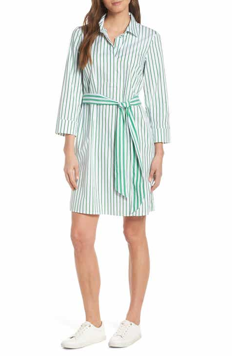 11b3869b9ff 1901 Stripe Shirtdress (Regular   Petite)