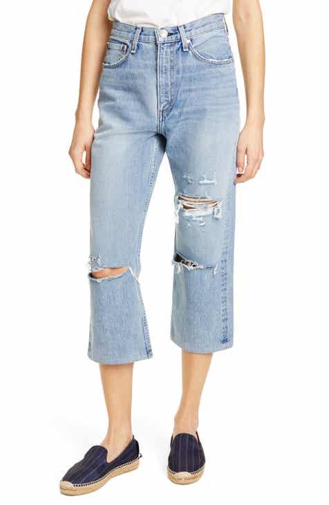 f707f2e441 rag   bone Ruth Ripped Super High Waist Ankle Wide Leg Jeans (Wells)