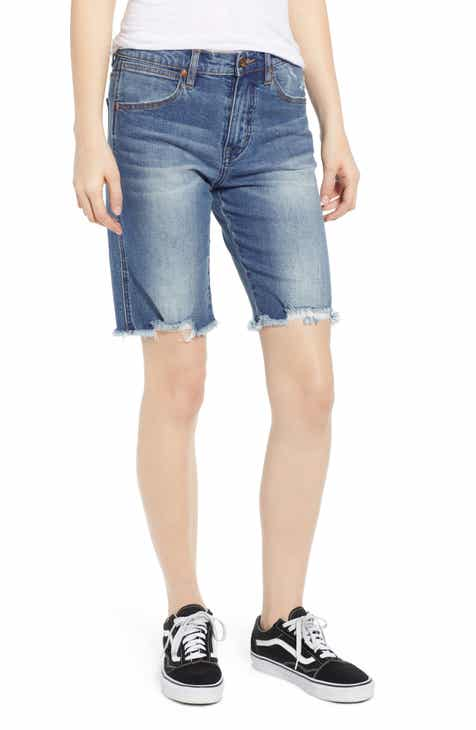 AG Mikkel High Waist Cutoff Denim Shorts (20 Years Haste Destructed) by AG