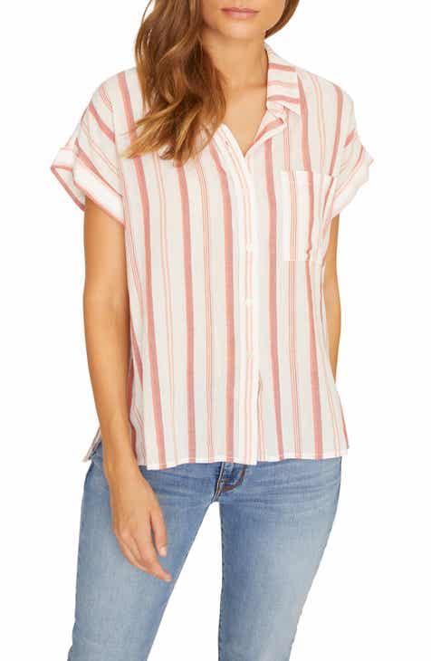 401eb5e7f Sanctuary Mod Short Sleeve Boyfriend Shirt (Regular & Petite)