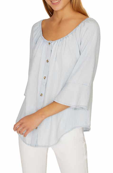 Sanctuary Annabelle Elastic Neck Shirt