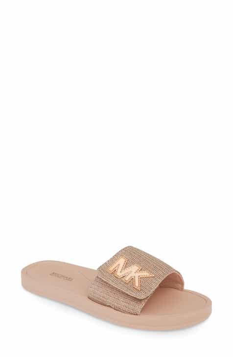 766a7a8bfffa MICHAEL Michael Kors MK Logo Slide Sandal (Women)