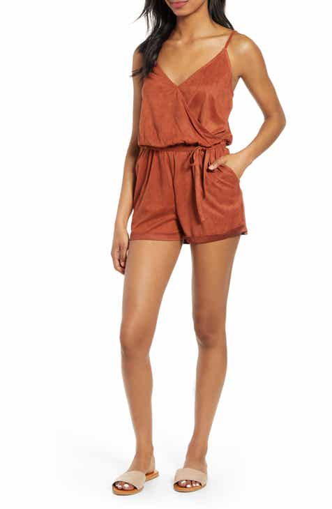 Topshop Button Skort Playsuit by TOPSHOP